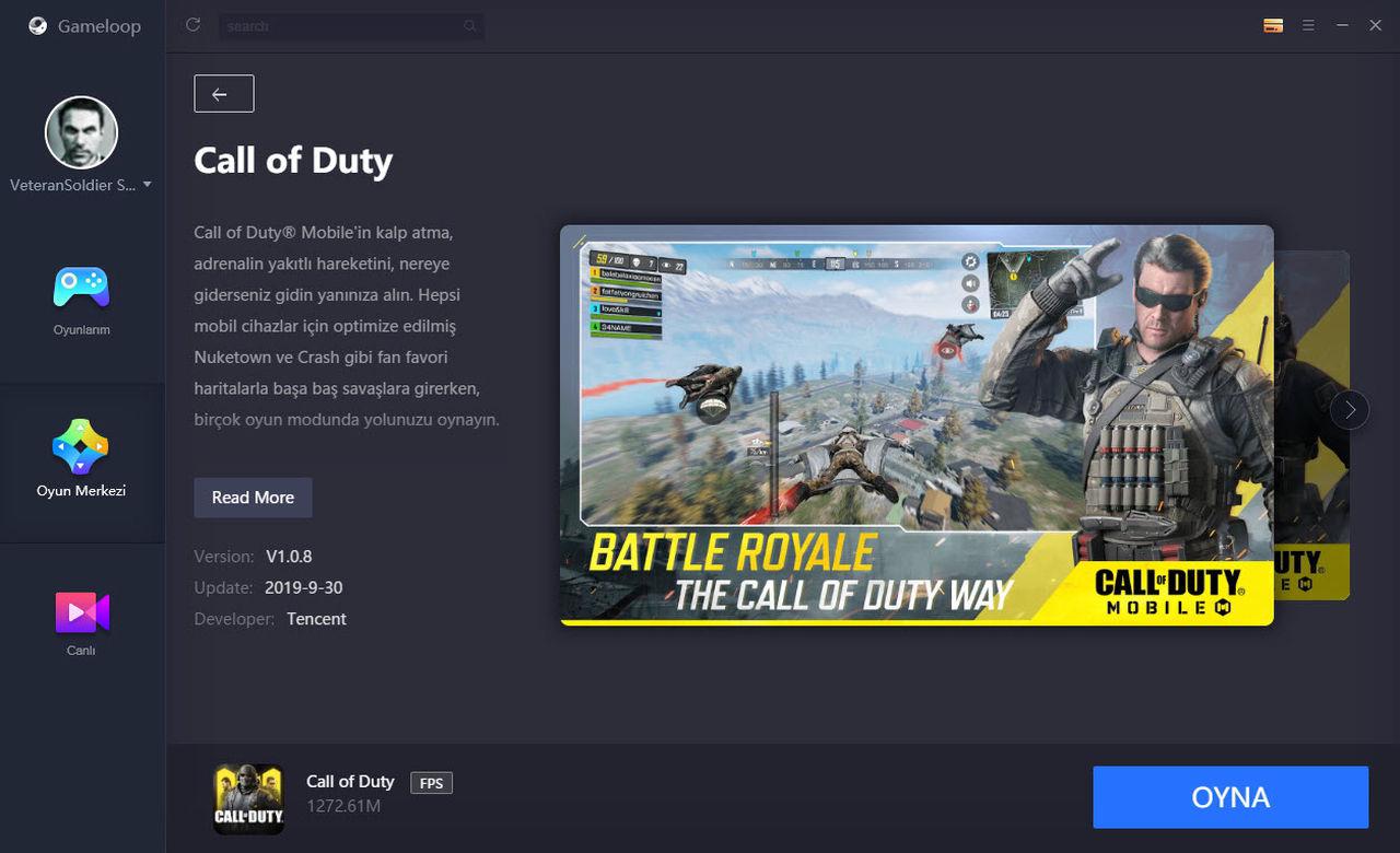 Call of Duty Mobile Emulator PC Ekran Görüntüsü