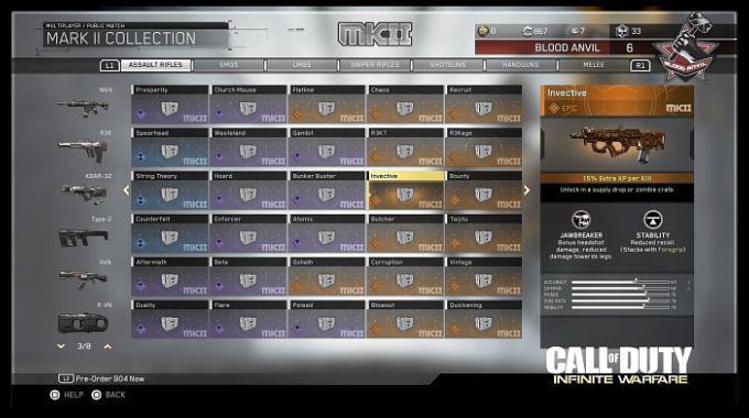 Call of Duty Infinite Warfare Mark 2 Koleksiyonlar
