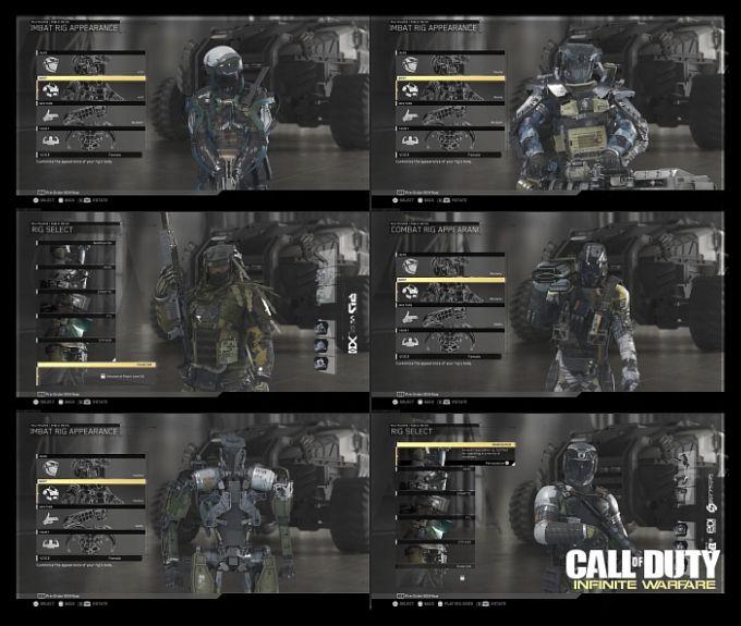 Call of Duty Infinite Warfare Multiplayer Oyuncu Sınıfları, Karakterler