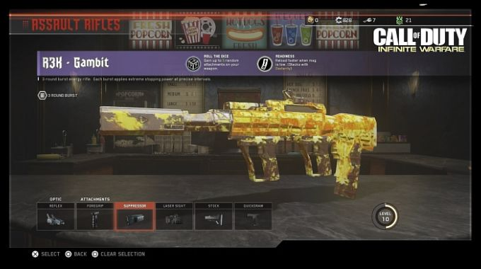 Call of Duty Infinite Warfare Zombie Silah Eklentileri