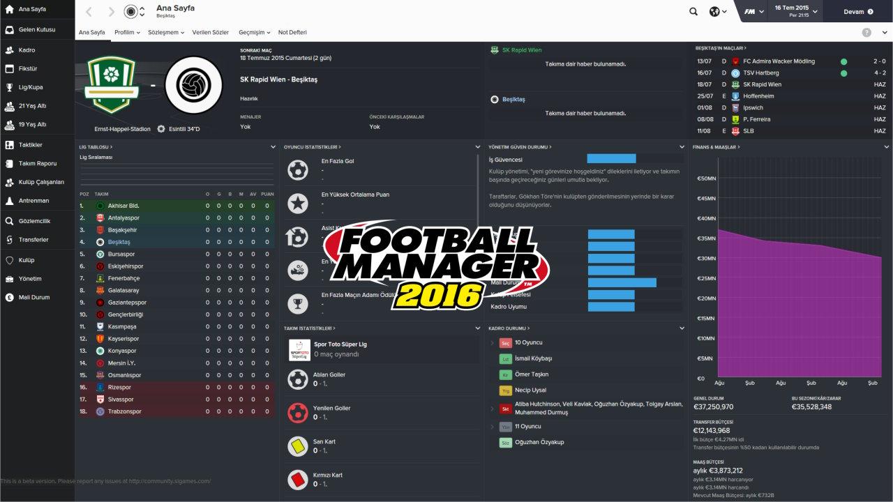 Football Manager 2016 Minimum ve Önerilen Sistem Gereksinimleri