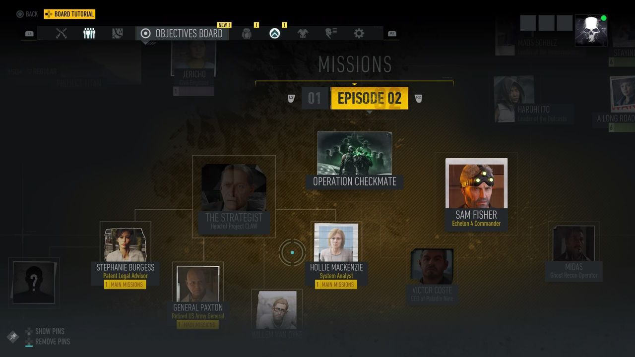 Tom Clancy's Ghost Recon Breakpoint Görevler Menüsü