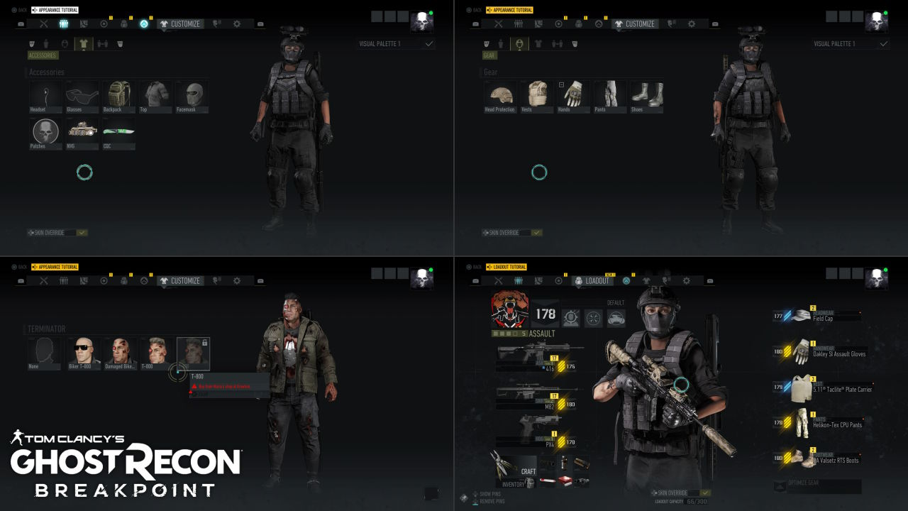 Tom Clancy's Ghost Recon Breakpoint Kıyafet Özelleştirme, Silah ve Zırh Seçimi