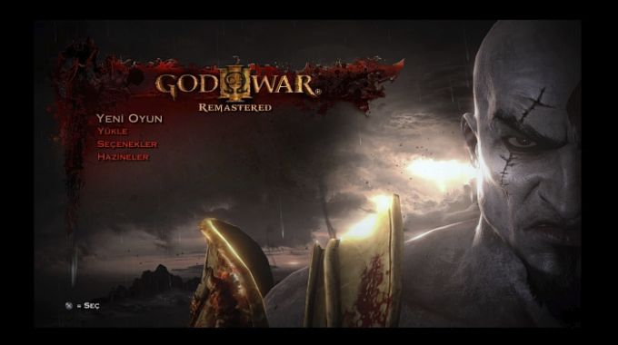 God of War 3 Remastered Menü