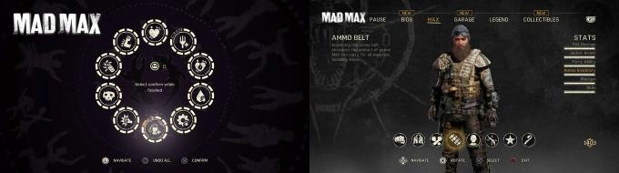 Mad Max Level ile Kazandığınız Puanlarla Açılabilen Skiller