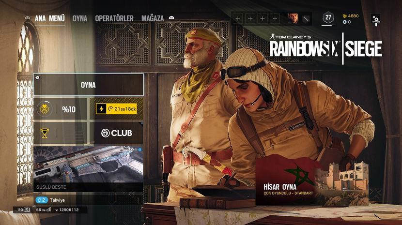 Tom Clancy's Rainbow Six Siege Ana Menü