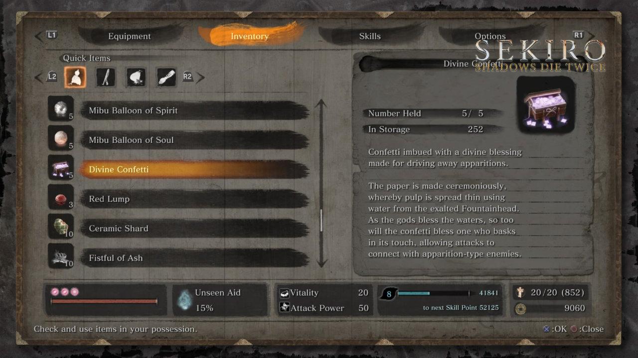 Sekiro: Shadows Die Twice Headless Kesme Taktiği Divine Confetti