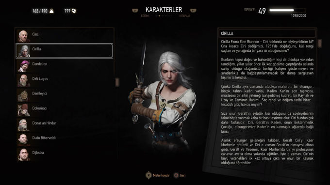 The Witcher 3 Wild Hunt Ciri Zireal