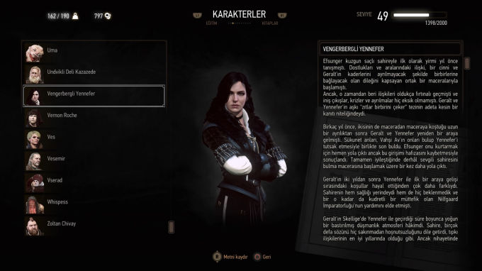 The Witcher 3 Wild Hunt Vengeberli Yeneffer
