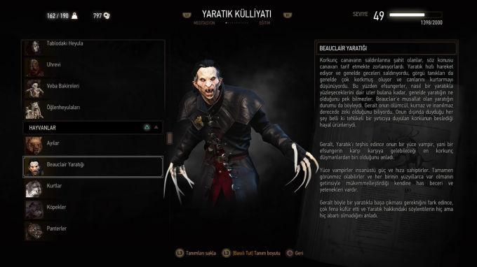 The Witcher 3 Wild Hunt Yaratık Külliyatı