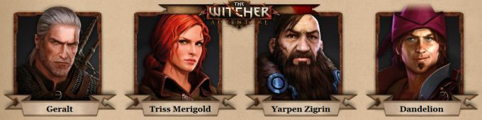 The Witcher Adventure Game Karakterler